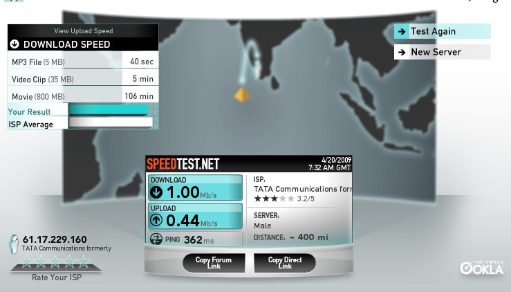 How to check my internet upload and download speed