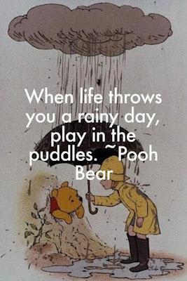 Cute funny rain quotes, funny rain pooh image