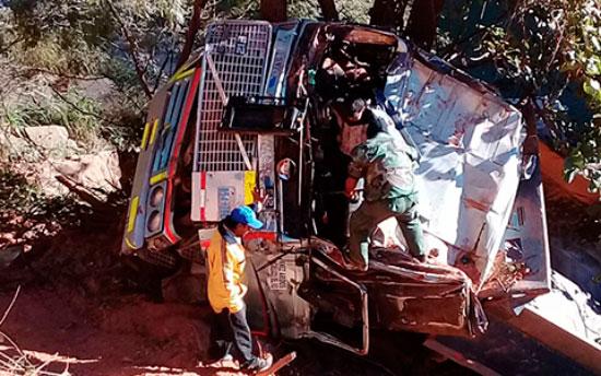 Reportan accidente de tránsito en El Angosto de Villa Montes