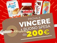 Logo Fai la scorta con Kinder e Ferrero: vinci 40 buoni spesa da 50€ e 10 buoni da 200€