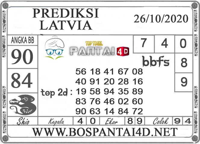 PREDIKSI TOGEL LATVIA PANTAI4D 26 OKTOBER 2020
