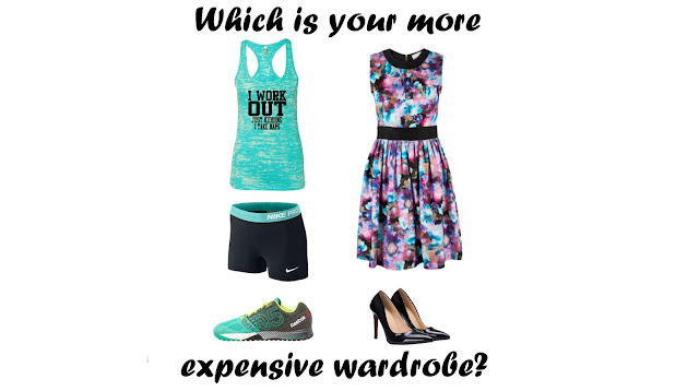 Style Athletics explores which wardrobe is more expensive.  Workout or work?