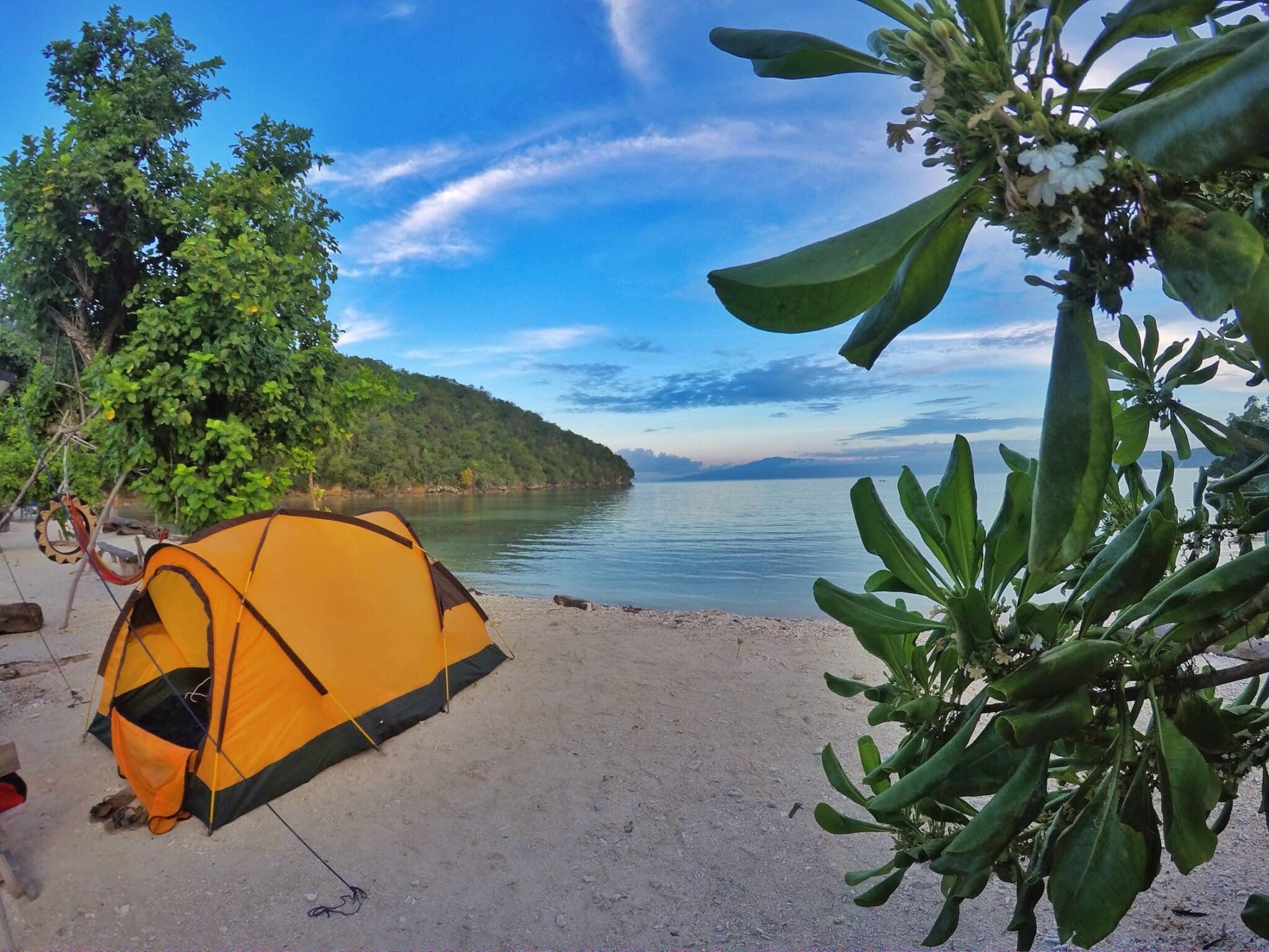 tent camping in a beach - Morales Beach Resort, Gumasa, Glan, Sarangani.