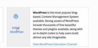 install wordpress redirect to cpanel login