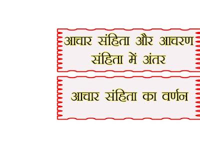 आचार संहिता क्या होती है |आचार संहिता |Code of Ethics in Hindi