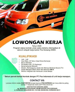 Lowongan Kerja Pos Indonesia daerah Bandung