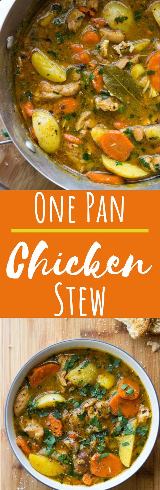 One-Pot Chicken Stew #dinner #chicken