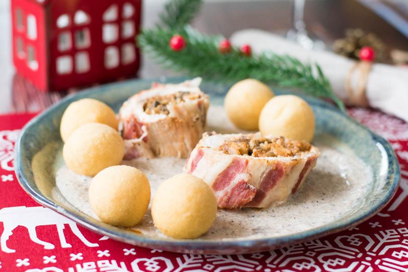 recette Ballottines de dinde farcies aux marrons et champignons