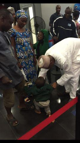 Bukola Saraki goes to the cinema with his kids in Ilorin