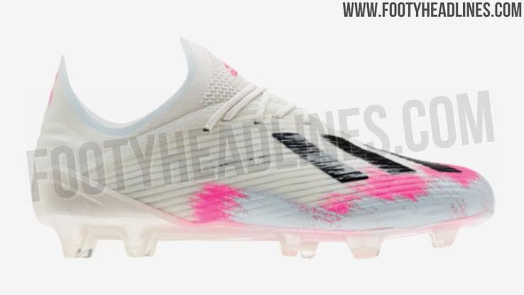 Von EM 2020 inspiriert: Weiß Schwarz Pinke Adidas X 19+