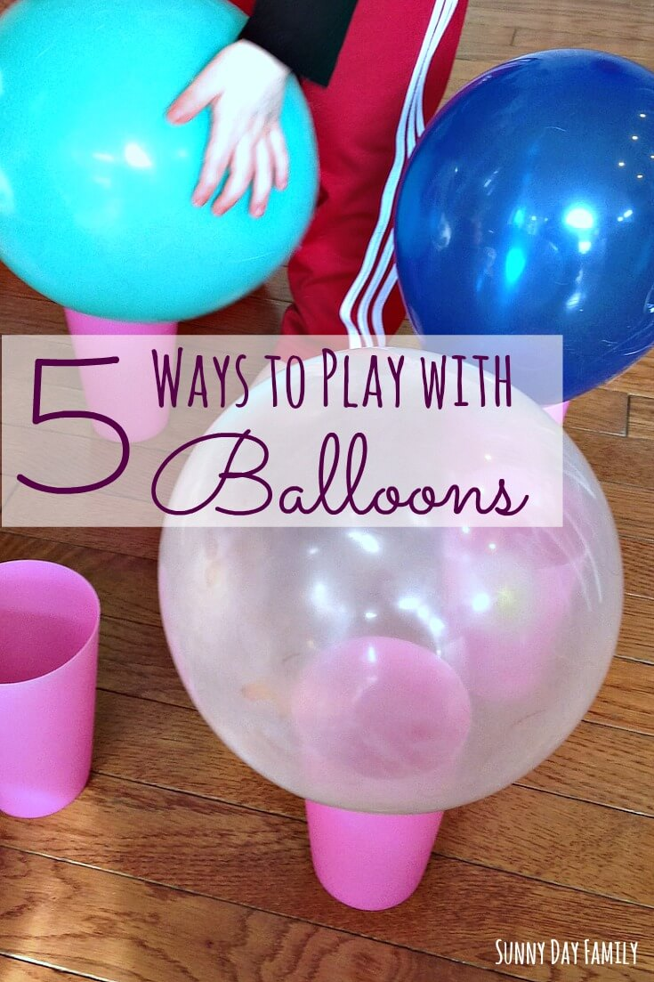 5 Ways to Play with Balloons! These easy balloon games will keep your toddlers entertained for hours!