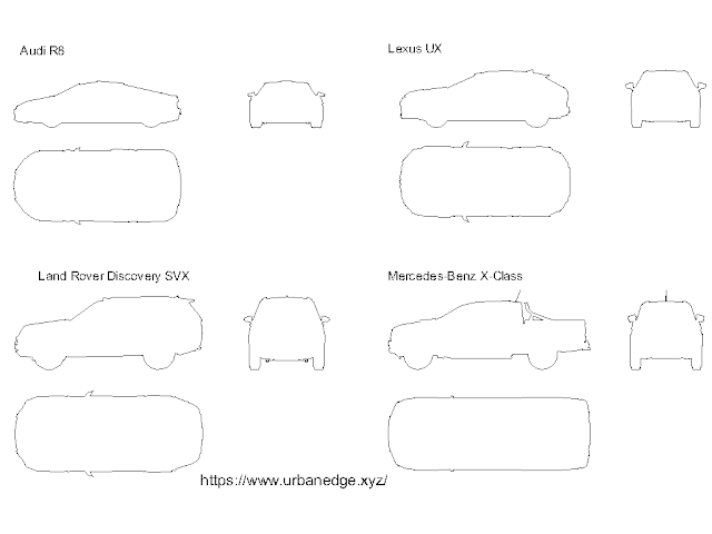 Car Outline cad blocks - 12+ free cad blocks download