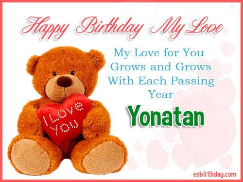 Yonatan Happy Birthday My Love