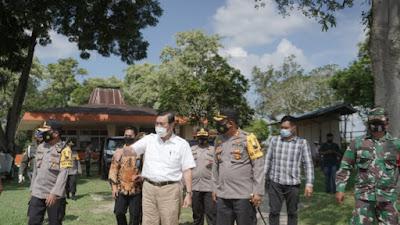 Menteri Luhut Tinjau Proyek Jalan Tol Tebingtinggi-Prapat