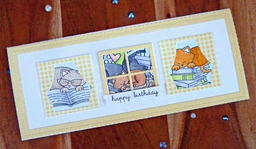 Happy birthday by Joyce M. features Porch Swing Friends and Newton's Book Club by Newton's Nook Designs; #newtonsnook