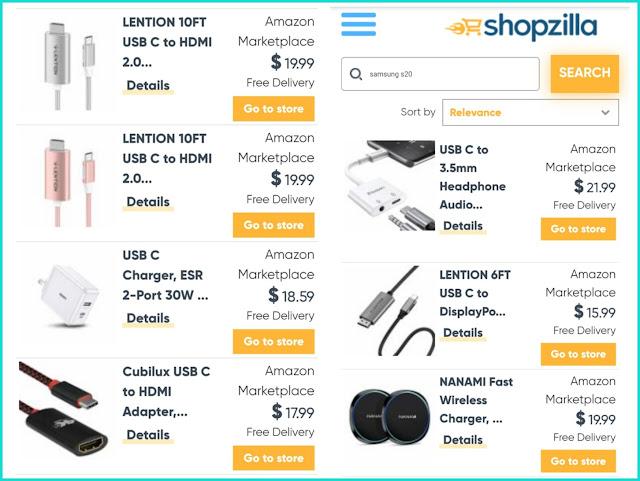 """مثال على التسويق بالعمولة على موقع الويب """"shopzilla"""""""