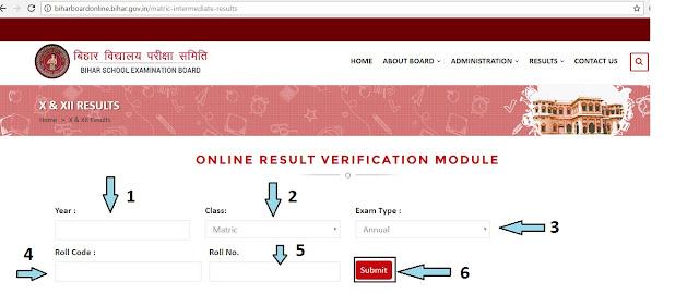 Bihar Board Online Result Verification