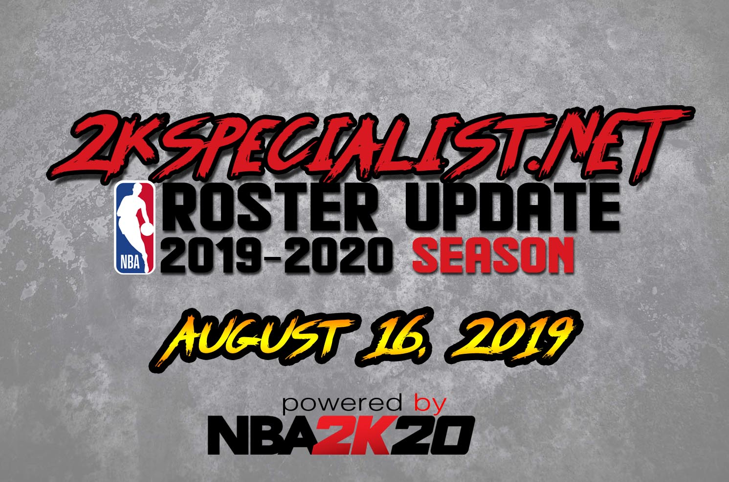 2KSPECIALIST'S NBA 2K19 ROSTER UPDATE (08 16 19) RELEASED