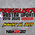 2KSPECIALIST'S NBA 2K19 ROSTER UPDATE (08.16.19) RELEASED!