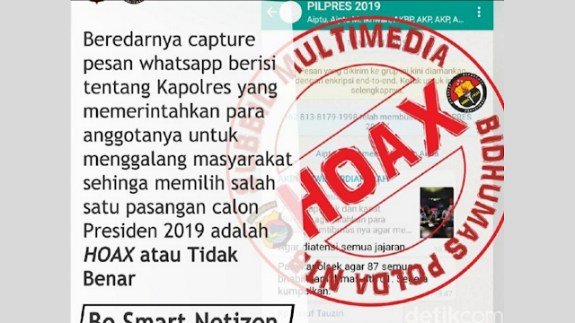 Beredar Screenshot Grup WA Dukung 01, Kapolres Bima: Itu Hoax