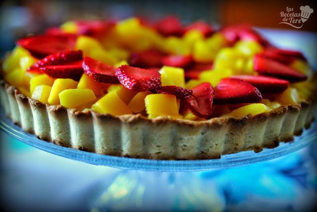 Tartaleta de mango y fresas tererecetas 05