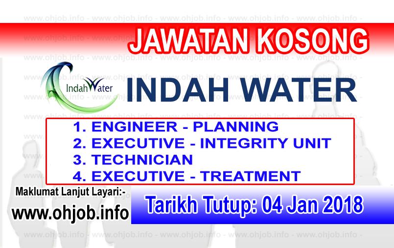 Jawatan Kerja Kosong IWK - Indah Water Konsortium logo www.ohjob.info januari 2018