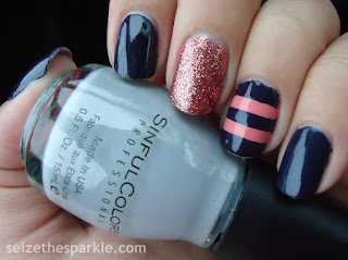 Glitter & Stripes Manicure
