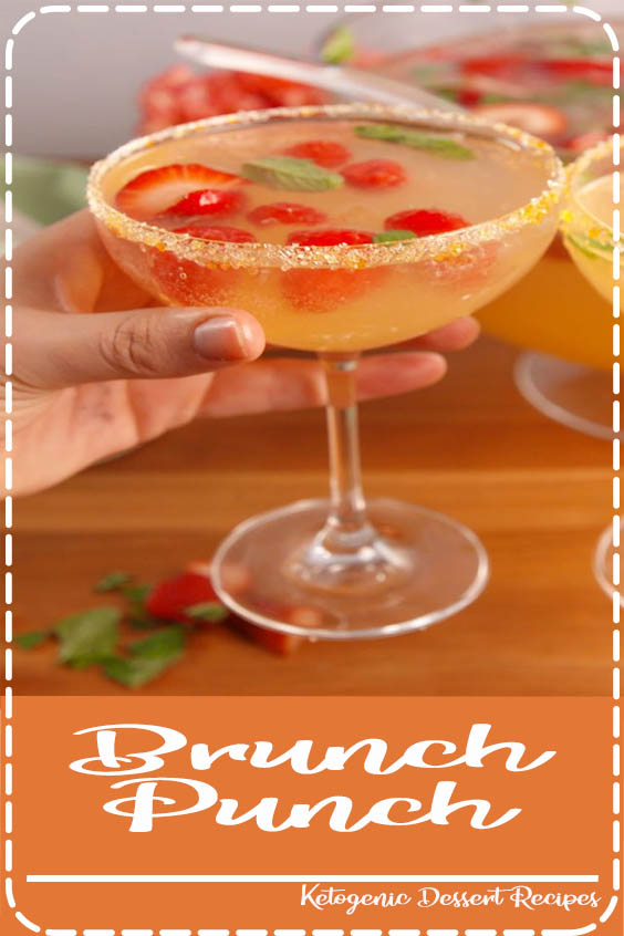 Check out this recipe for the best brunch punch from Delish Brunch Punch