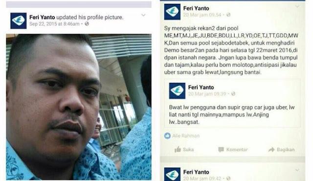"Feri Yanto ""Sopir Taksi Blue Bird"" Di Duga Provokator Di TANGKAP"