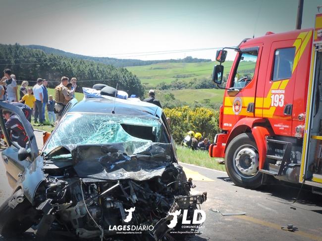 Grave acidente deixa cinco pessoas feridas em Lages