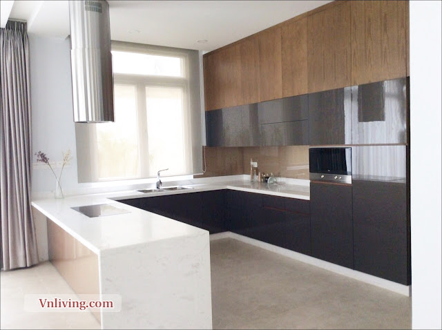 Kitchen room Villas The Venica for lease in District 2
