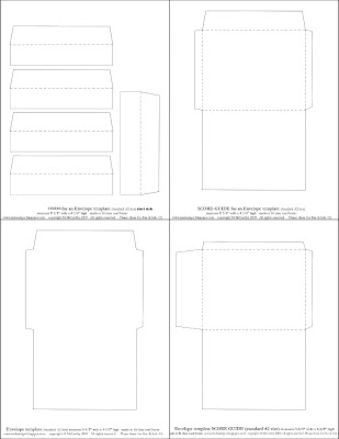 Mel Stampz Over 100 envelope templates and tutorials - 4x6 envelope template