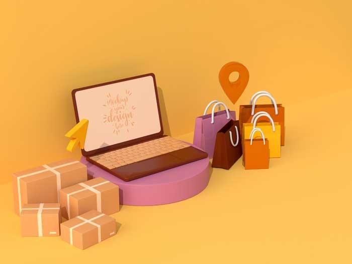 Online Shopping Mockup V-4