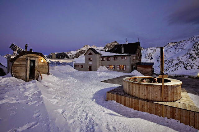Val Senales, sauna del rifugio Bella Vista