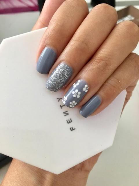 Flower nail art designs