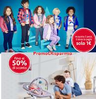 Logo Chicco Back to school:il 3° prodotto solo a 1€ e fino al 50% di sconto Baby