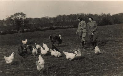 Land girls on the farm during WWII
