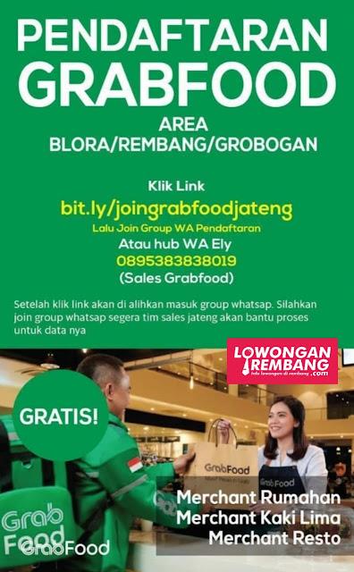 Dibuka Pendaftaran Grabfood Area Blora/Rembang/Grobogan