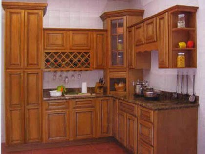 Modular kitchen Wooden style Kerala model kitchen cabinet ...