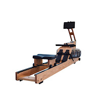 WaterRower Performance Ergometer in Oak Wood with SmartRow, advanced rowing machine with integrated SmartRow technology and True Performance Sensor, connects via Bluetooth to SmartRow App on IOS & Android devices, measures absolute force & drive length