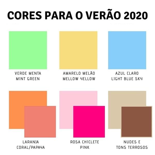 tendências da moda festa 2020 cores
