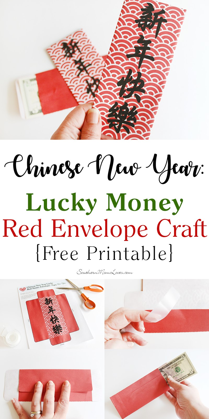 southern mom loves chinese new year lucky money red envelope craft free printable