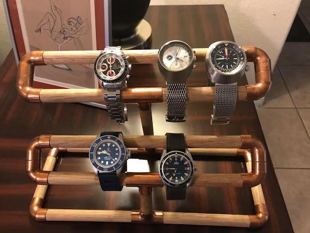 DIY Wood and Copper Watch Stand