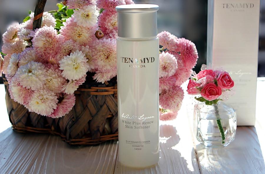 Отбеливающий и восстанавливающий тонер для кожи с пигментацией Tenamyd Canada White Lagoon White Plus Renew Skin Softener / обзор, отзывы