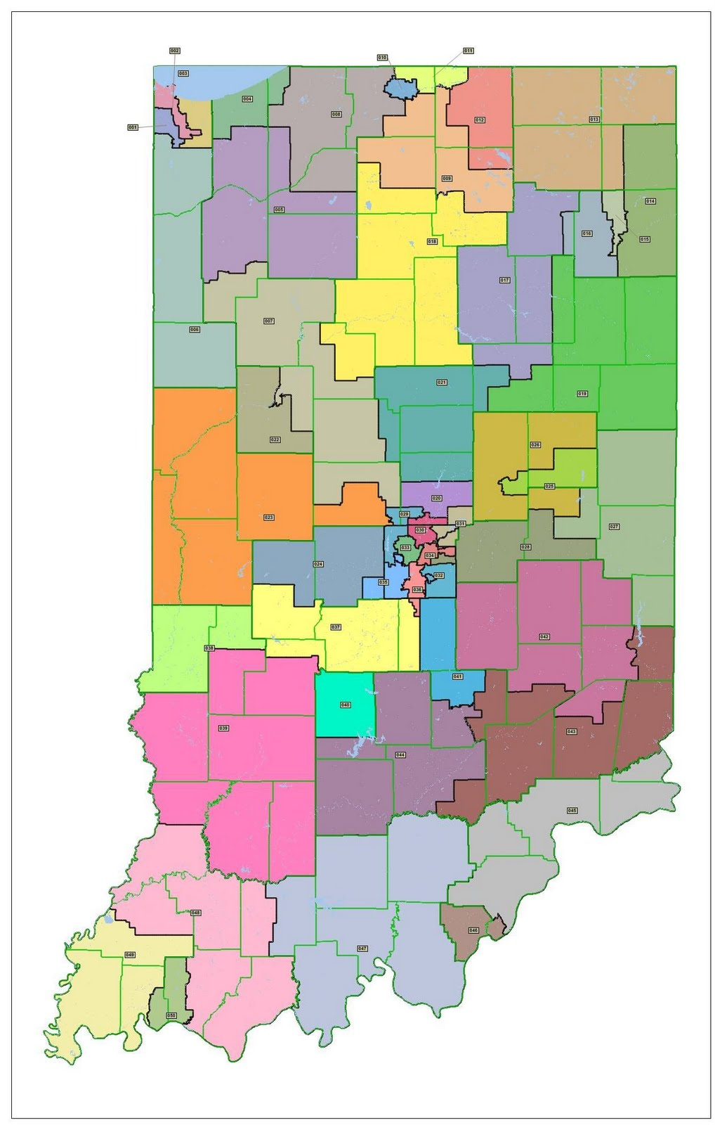 Senators By State Map.Ogden On Politics Who Do Indiana State Senators Represent Following
