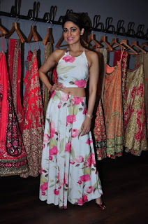 Actress Shamita Shetty Pictures in Floral Dress at Amy Billimoria Launch 0004
