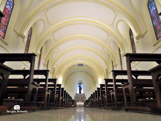 Perspectiva artística do interior da Igreja de São Francisco de Assis - Vila Clementino - São Paulo