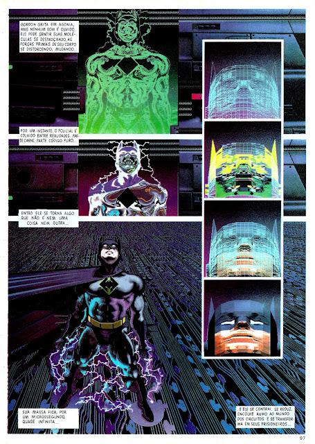 Pagina da Revista Digital Justice onde o Batman foi capturado es está passando por um processo de digitalização