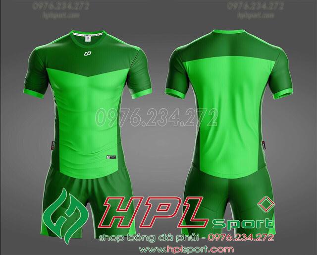 Áo ko logo HHD màu xanh lá