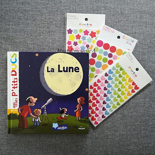 Mes p'tit docs La Lune - Gommettes